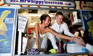 ice cream food truck at wedding